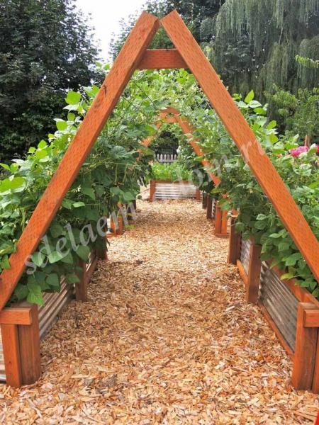 Огород в овраге как сделать грядки